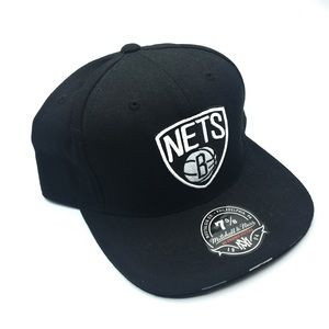 NEW Mitchell & Ness Nets NBA Fitted Ball Hat 7 5/8